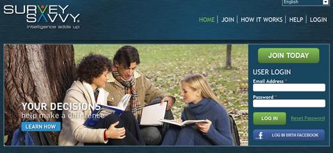 SurveySavvy Home Page
