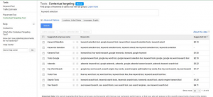 AdWords Contextual Targeting Tool
