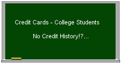 best credit cards for college students with no credit history