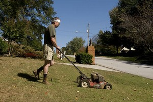 Mowing Lawn To save