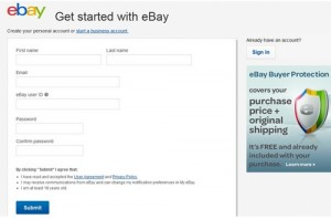 eBay Registeration Form